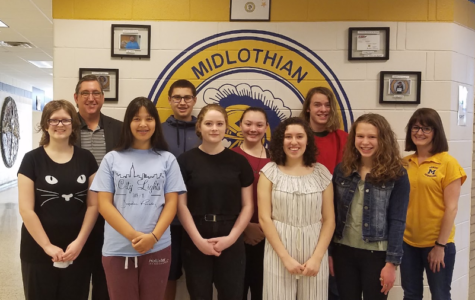 Chesterfield County and Midlothian High School recognize the students who received PSAT scores in the top 10% of Midlothian High School.