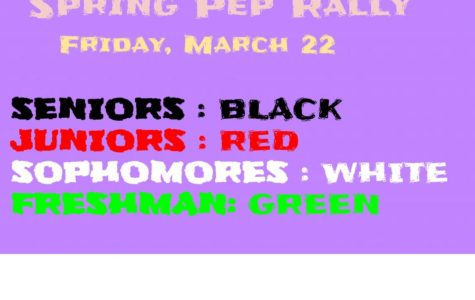 2019 Spring Pep Rally Colors: Show your spirit!