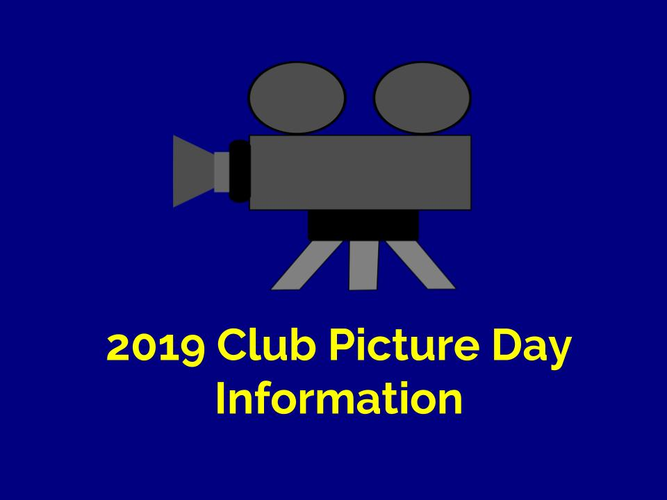 Club Picture Day is on March 20th.