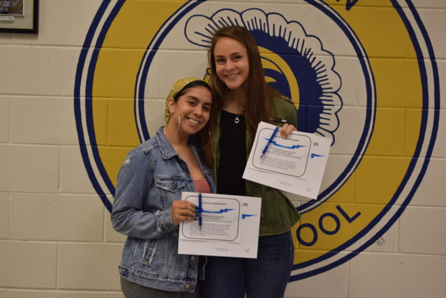 Rachel RIvera and Erin Babashak win March @GoMidlo Students of the Month.