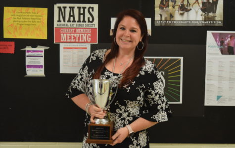 Special Education teacher, Ms.Callie Nunnally, gets awarded the Teachers Recognizing Teachers award.