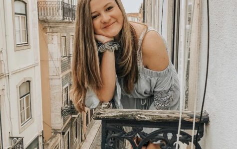 Riley Sayegh lounges outside of her hotel room in Lisbon, Portugal during her 2019 Spring Break trip.