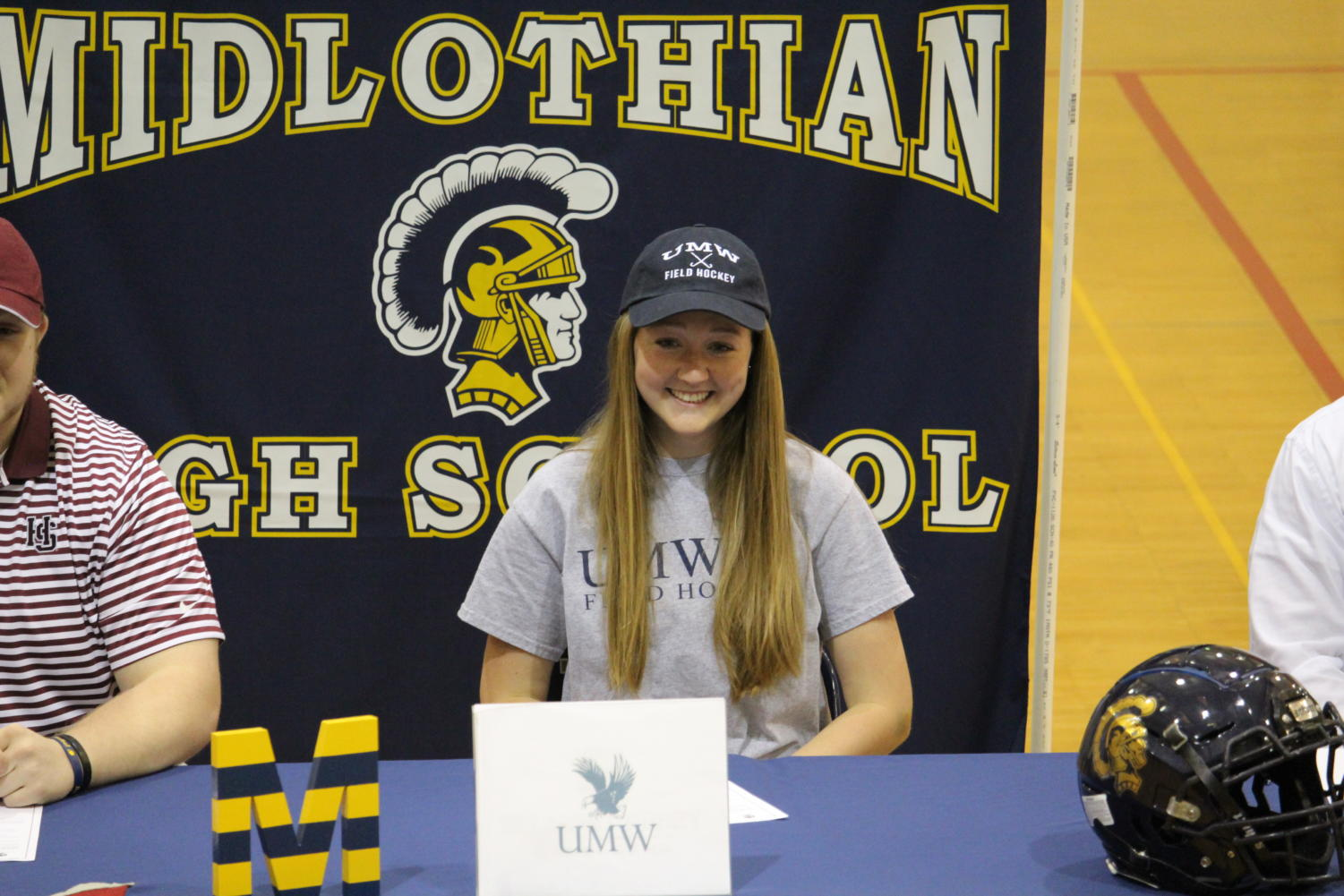 Zoe Hammond signs to play field hockey at Mary Washington on April 17, 2019.