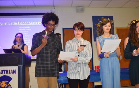 Latin students join the National Latin Honor Society.
