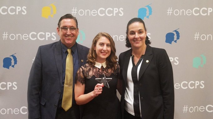 Foster earns top CCPS honor for new teachers