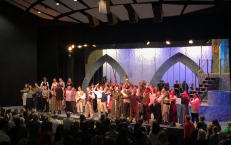 The cast of Man of La Mancha sing I Am I, Don Quixote one last time.