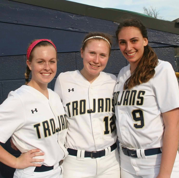 The+Softball+Class+of+2019+includes+Maggie+McDermott%2C+Abby+White%2C+and+Lauren+Lingle.