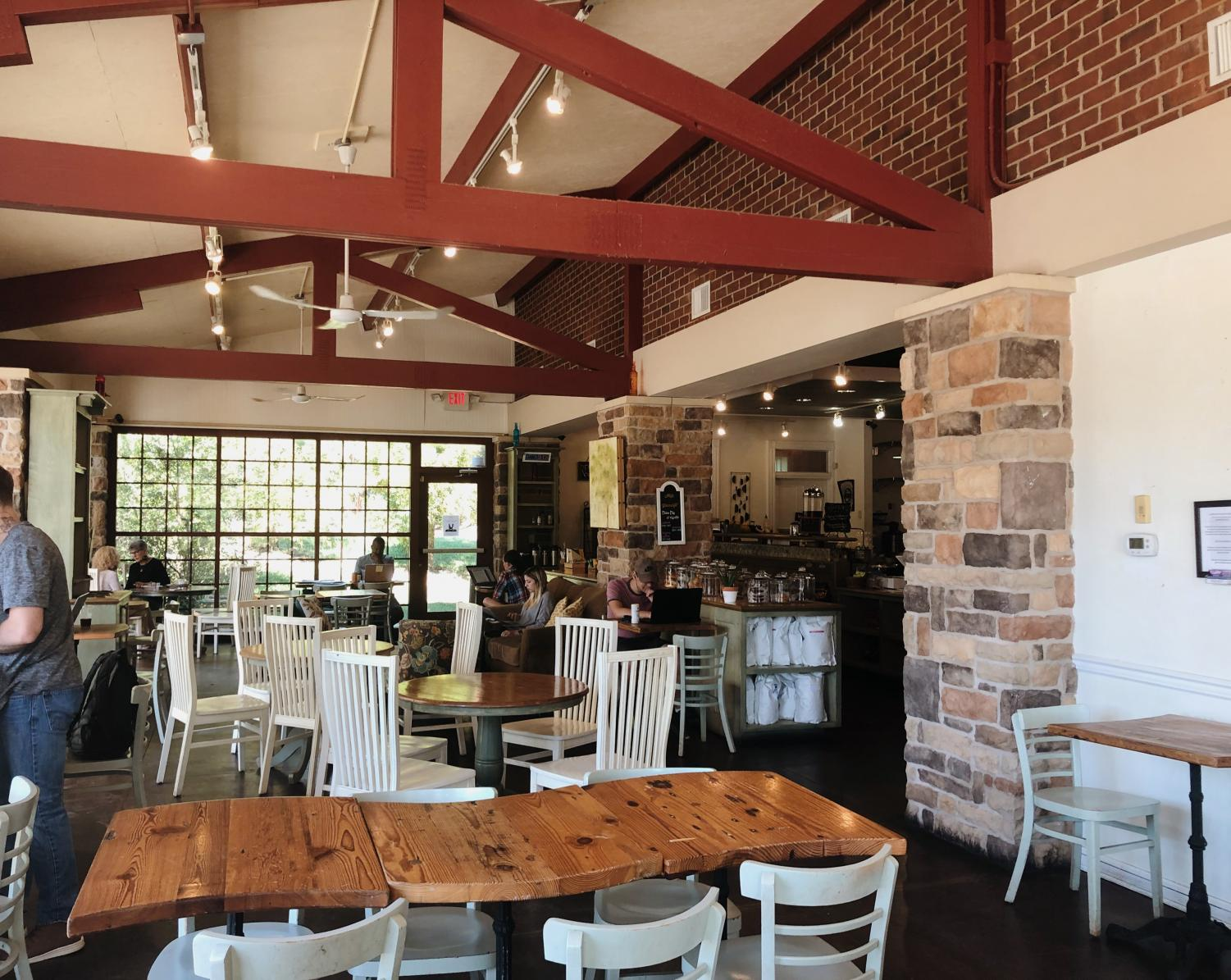 The Urban Farmhouse Cafe offers a bright and lively scene for all patrons.