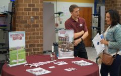 The Mississippi State college representative discusses the benefits of his school with parents of Midlo students.