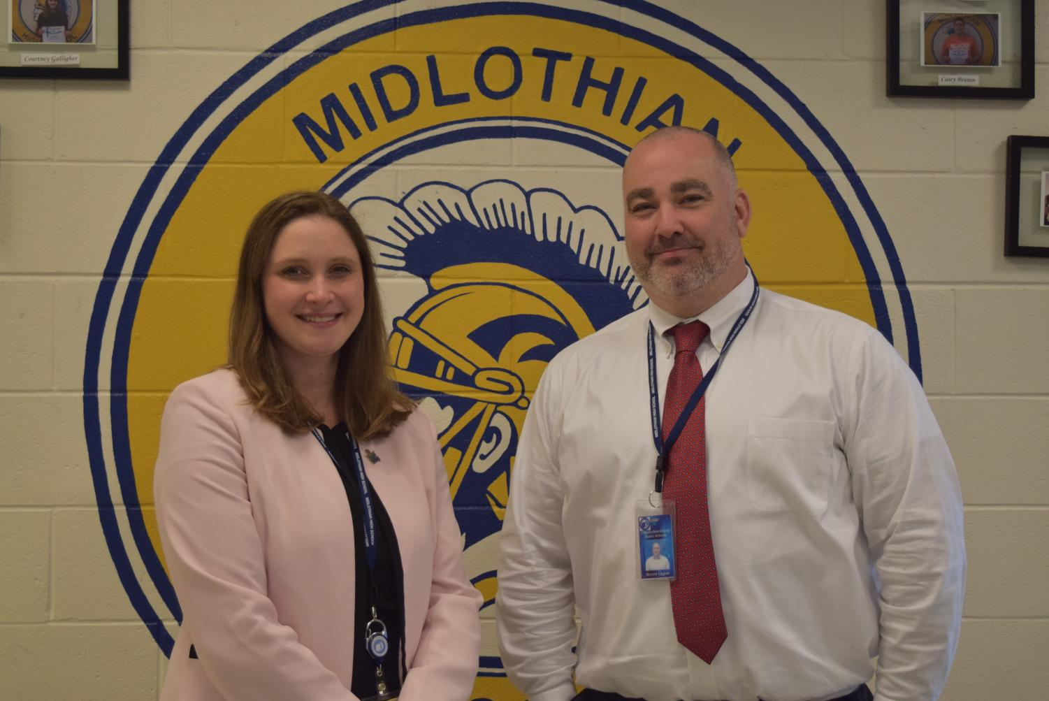 Dr. Moonie and Mr. Lagow enjoy their first week at Midlothian High School.