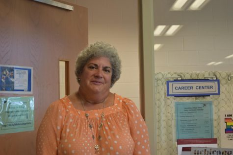 Mrs. Martin is eager to help juniors and seniors at the College and Career Center located in the Library.
