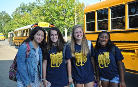 New Trojans excitedly begin their adventure at Midlo during the 2019 Freshman Orientation.