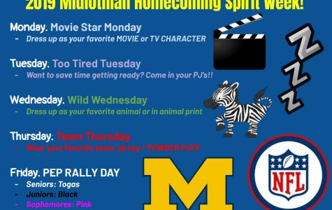 Midlo announces 2019 Spirit Week days