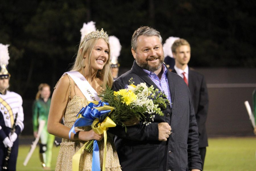 Senior princess Frankie Sperry is crowned Homecoming Queen at halftime of the 2019 Homecoming game.