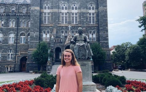 Erin Junkmann visits Georgetown for Future's Day.
