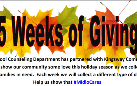 Midlothian High School partners with KingsWay Community Church for 5 weeks of Giving.