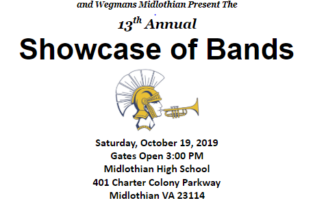 Midlo Showcase of Bands takes place on Saturday, October 19, 2019.