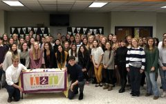 Midlo NAHS members continue the tradition of a group photo for induction.