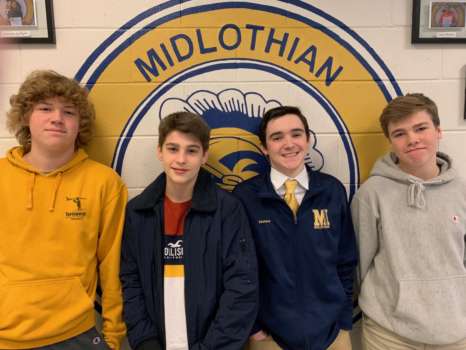 Junior Ben Covert, freshman Stephen Gaylor, senior Zach Biller, and sophomore Jack Beattie give their opinion on whether or not it is too early to listen to Christmas music.