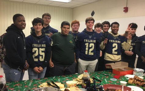 On Friday, November 2, 2019, Midlo football hosted a faculty appreciation breakfast, and senior players gave their jerseys to their favorite teachers to celebrate the final regular season home game.