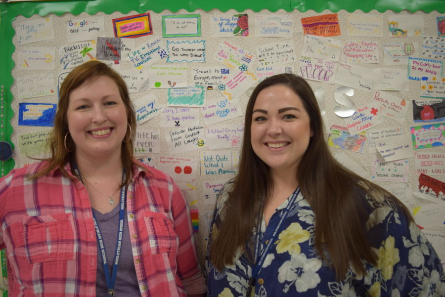 Mrs. Krievs would want Ms. Pfund to teach her in English if she were in high school. (Left to Right: Mrs. Fischer and Ms. Pfund)