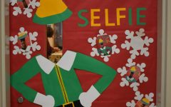 Midlo staff faces off in the holiday door decorating extravaganza
