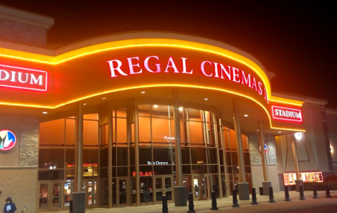 Regal Cinemas glowed on the premiere night of Black Christmas.