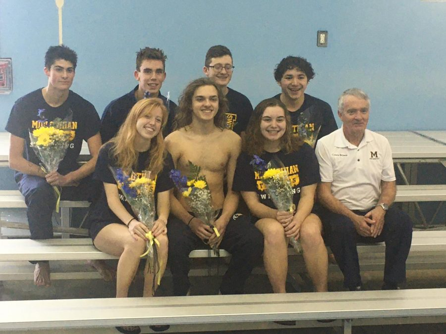 Midlothian+High+School+Varsity+Swim+Team+Class+of+2020+with+Coach+Gene+Bryson.