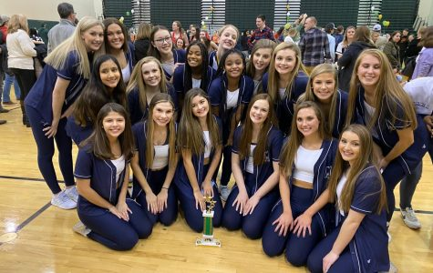 Midlo Trojanettes dance it out at the Kelly Green Invitational