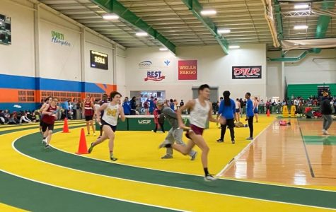 Midlo Indoor Track races at Pat Covas
