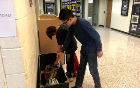 Freshmen do their part by collecting treats for military travelers.