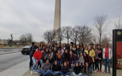Breaking Down Barriers club stands in front of the US Capital.