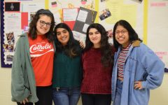 Seniors Nora Carlucci, Anushka Pandya, Lara Ballout, and Alex Murias-Roman give advice to IB underclassmen.