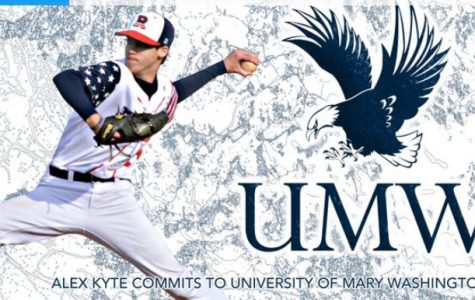 Senior Alex Kyte commits to continue his baseball career at University of Mary Washington.