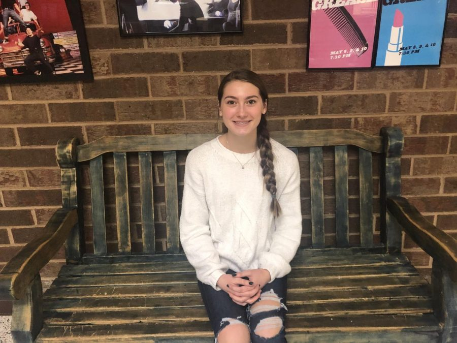 Freshman Ava Brown receives December Student of the Month award.