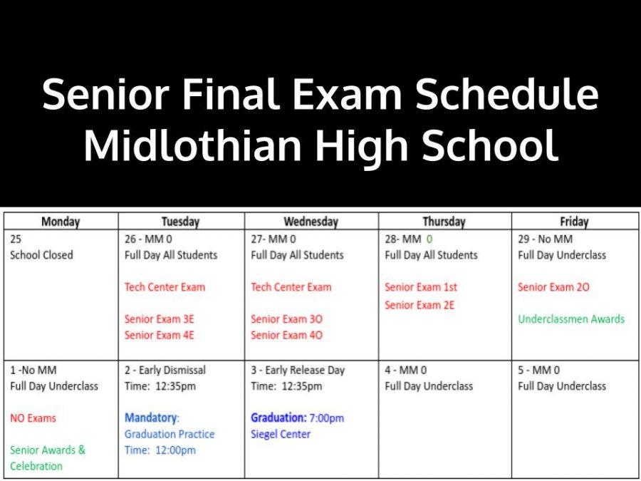 Midlothian High School Senior Exam Schedule