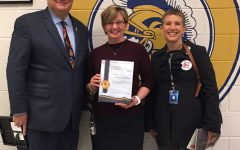 Mrs. Kniphuisen receives CCPS Game Changer Award