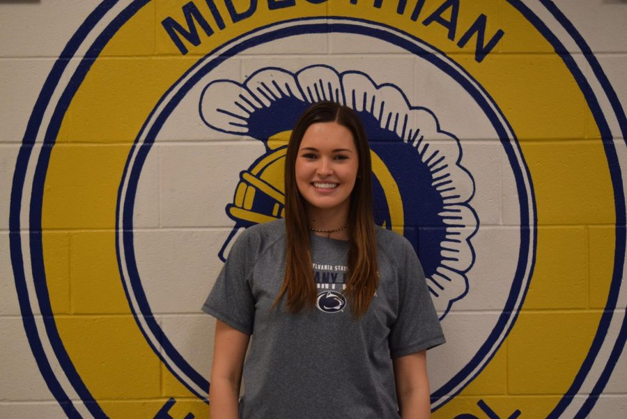 Junior Emma Weber is recognized as the December Student of the Month at Midlothian High School.