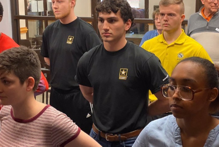 Jason Kopecko commits to serve in the U.S. Army.