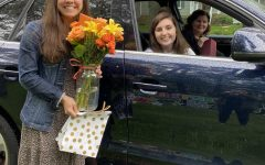 Sophomore Lauren Cassano celebrates her birthday with a drive by parade.
