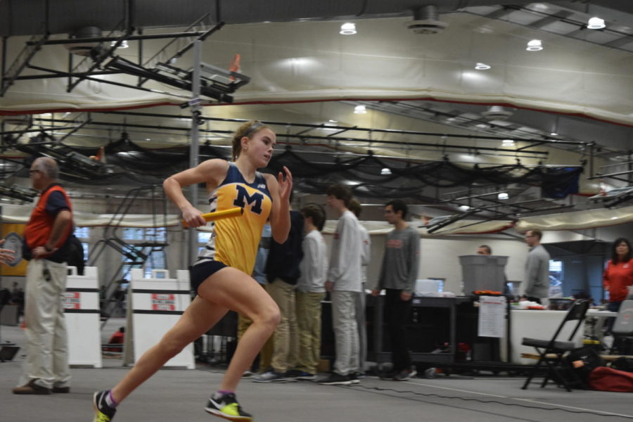 Senior Caroline Bowe works towards personal records during the pandemic, achieving them in self-scheduled time trials.