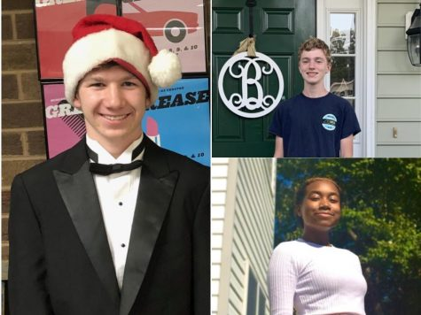 Student council candidates Patterson Summers, Adam Burke, and Camryn Turner run for their respective positions.