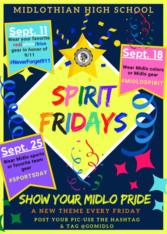 Join us for Midlo Spirit Fridays.