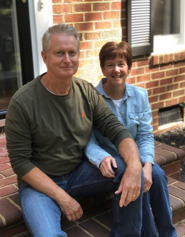 Substitute Mr.Gibson enjoys a beautiful fall day with his wife Kathy.