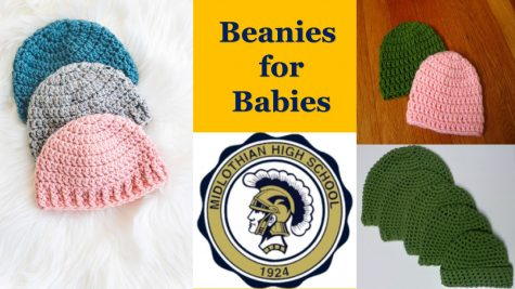 Midlothian High School organizes donation of beanies for babies at local hospitals.