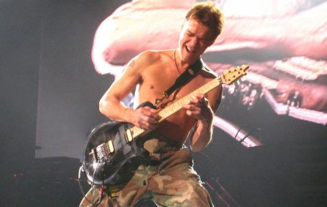Eddie Van Halen performs Eruption at the Bell Canter in Montreal on November 10, 2007.