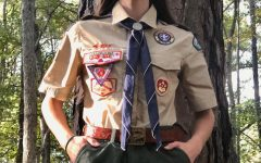 Senior Emelia Delaporte works to earn her Eagle Scout rank with Scouts BSA.
