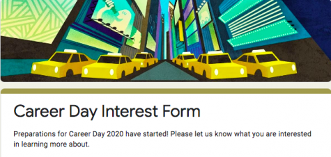 Students select their interest for Virtual Career Day on November 11, 2020.