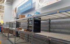 The local Powhatan Walmart faces a shortage of paper products and cleaning supplies.