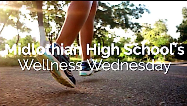 Students boost mental health through Midlothian High School's new Wellness Wednesday program.